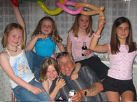 Harry Kenrick and 5 granddaughters